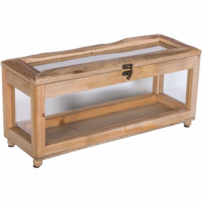 Picture of Wood Trimmed Glass Box With Lid