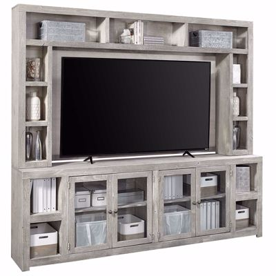 "Picture of Avery Loft Gray 97"" TV Console with Hutch"