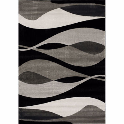 Picture of Platinum Modern Waves 5X8 Rug