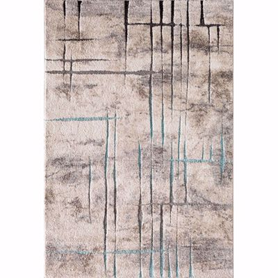 Picture of Rainier Hi Lo Etch Blue Brown 8x10 Rug