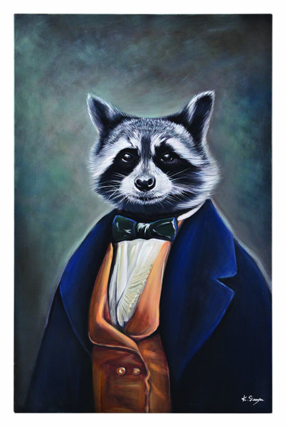 Picture of Professional Raccoon Canvas