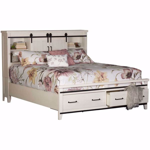 Picture of Dakota Queen Bookcase Storage Bed