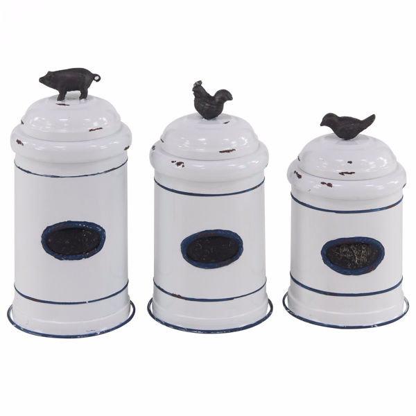 Picture of Set of 3 Farm House Canisters