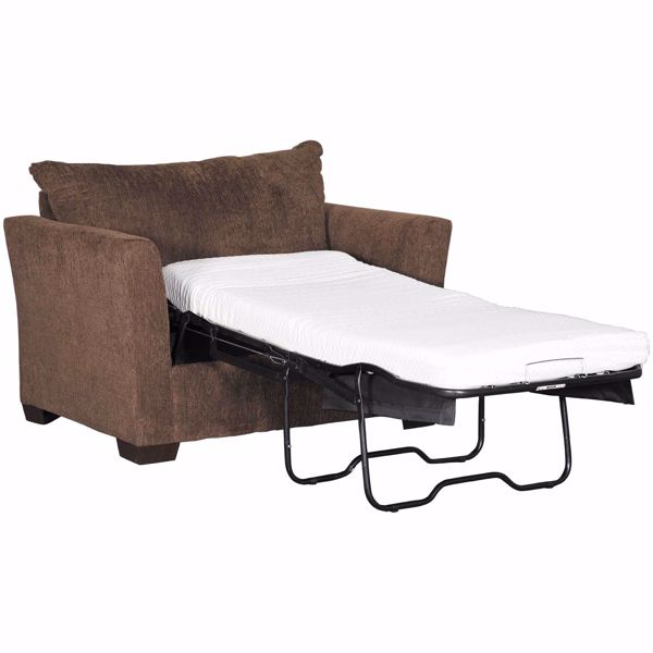Picture of Webster Coffee Twin Sleeper with Memory Foam Mattress