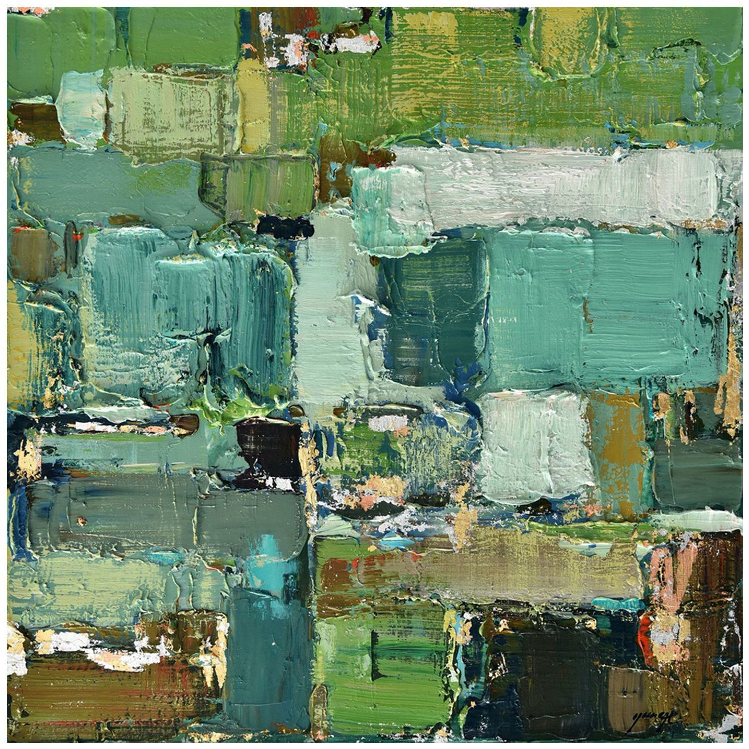 Picture of Aqua Green Abstact 31x31