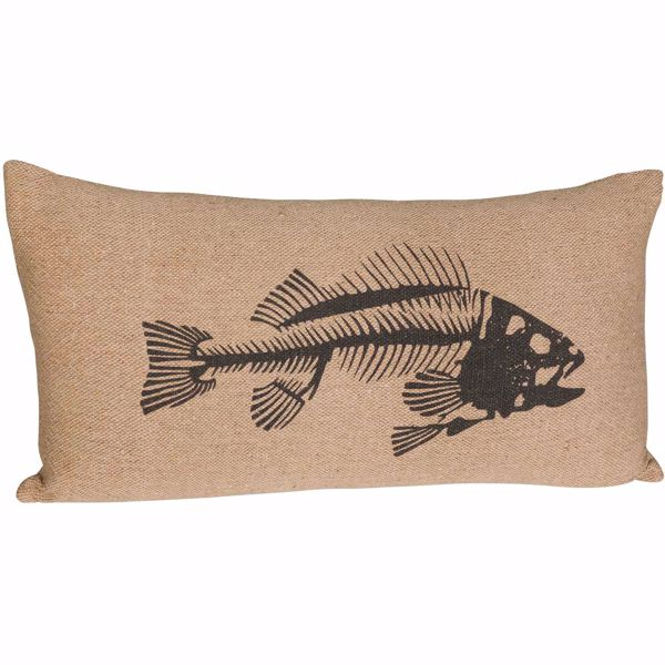 Picture of 14x26 Blue Fish Pillow