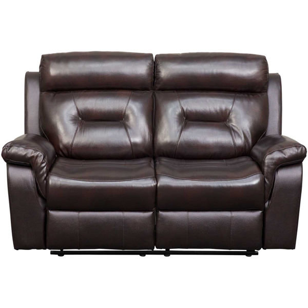 Picture of Watson Brown Leather Reclining Loveseat