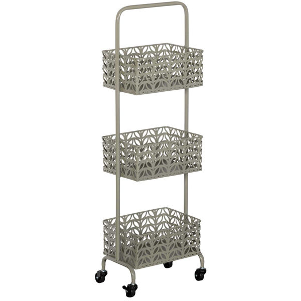 Picture of Grey Three Tier Metal Basket
