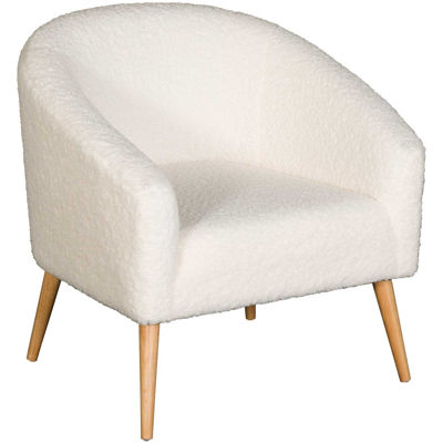 Picture of Sherpa Beige Accent Chair