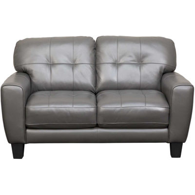 Picture of Aria Gray Leather Loveseat