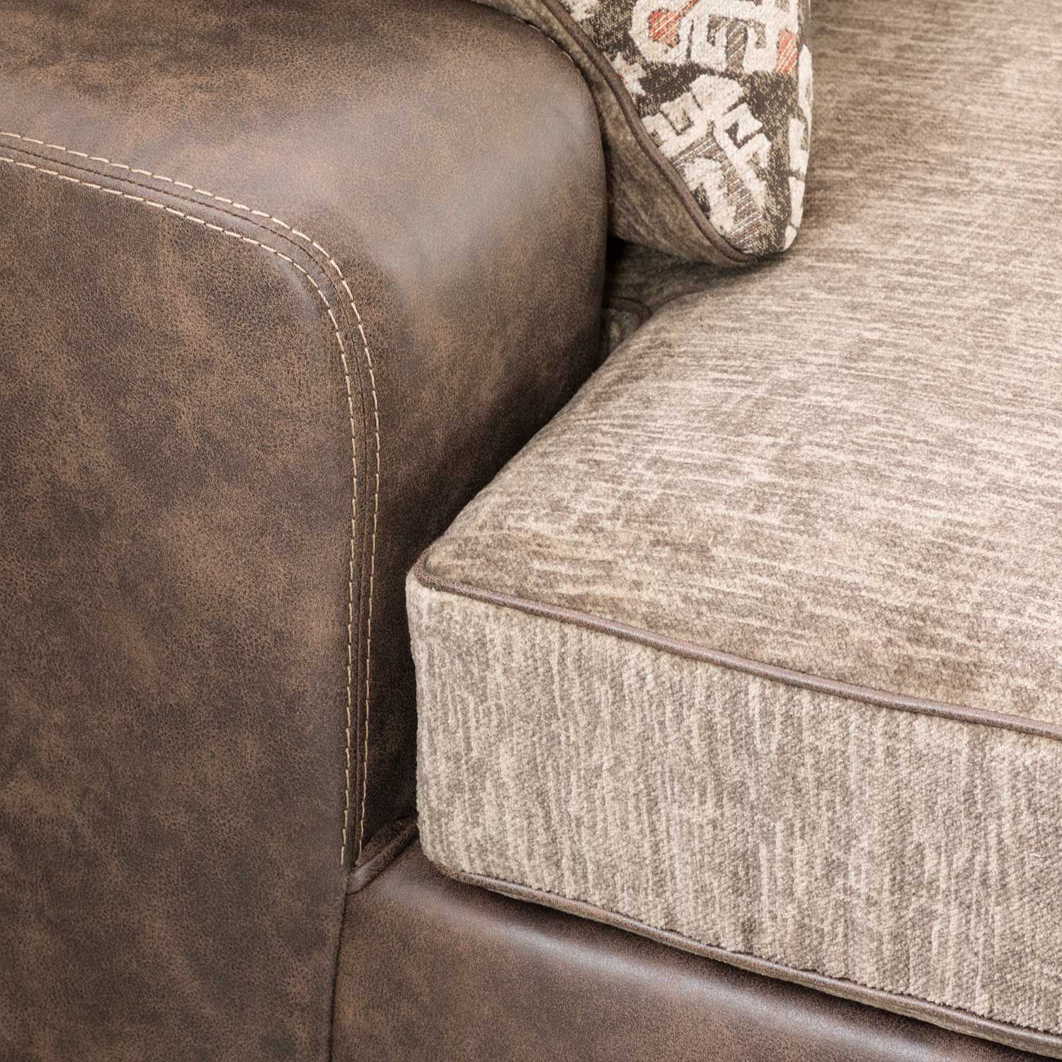 Picture of 3pc 2tone Sectional with RAF Chaise