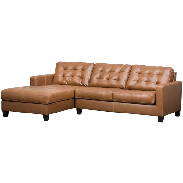 Picture of 2pc Italian Leather Sectional with LAF Chaise