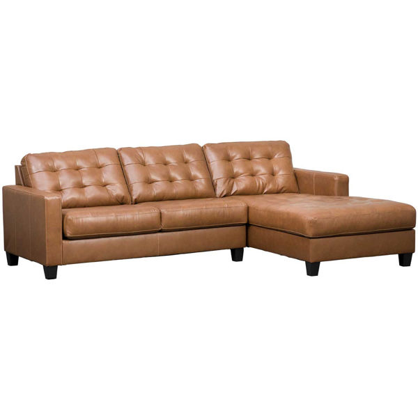 Picture of 2pc Italian Leather Sectional with RAF Chaise