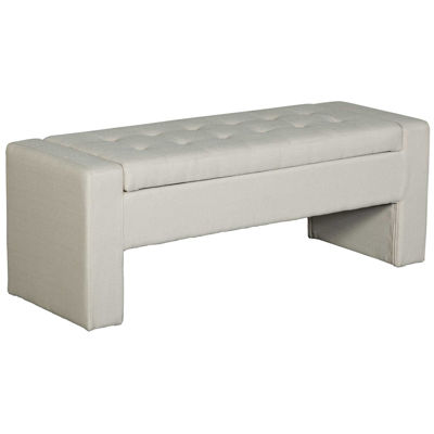 Picture of Lyla Beige Tufted Storage Bench