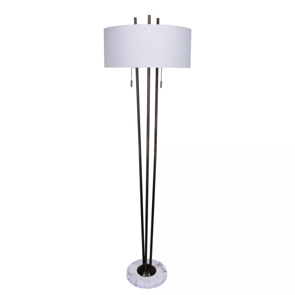 Picture of Metal Floor Lamp Marble Base