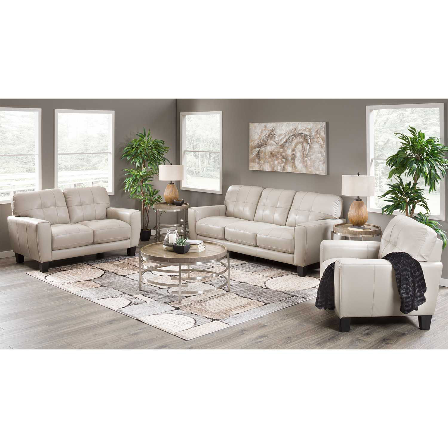 Picture of Aria Taupe Leather Sofa