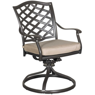 Picture of Halston Patio Swivel Arm Chair with Cushion