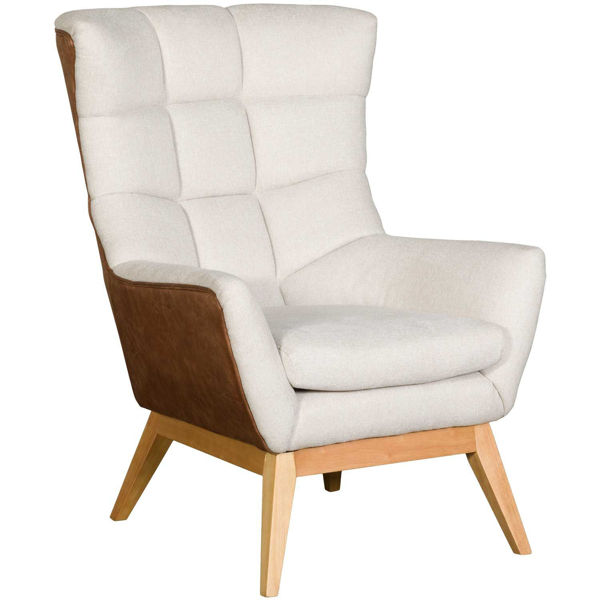 Picture of Burton High Back Two-Tone Accent Chair