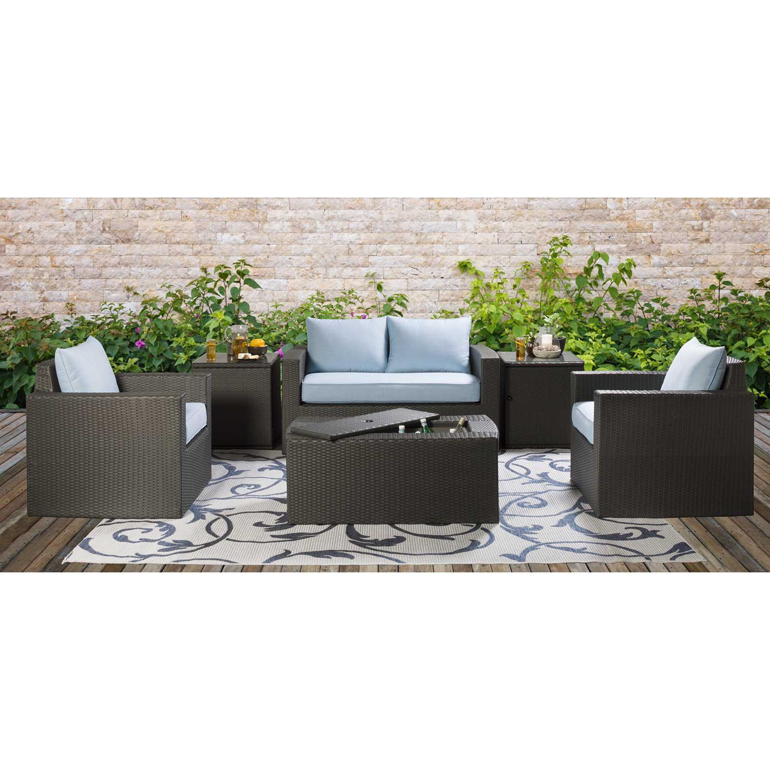 Picture of Brevard II Glass Top Side Table