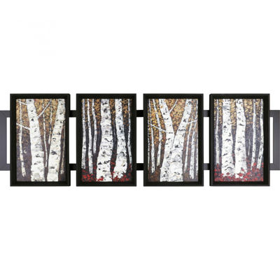 Picture of Framed Four Panel Trees