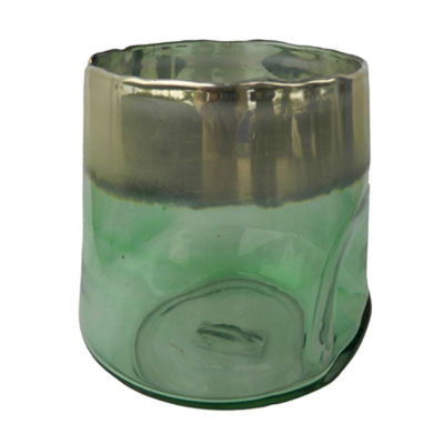 Picture of Green Glass Candle Holder