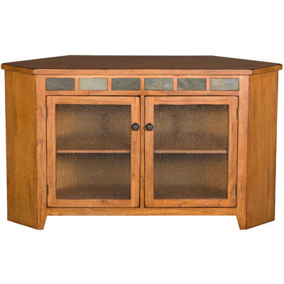 Picture of Sedona Rustic Oak Corner Console