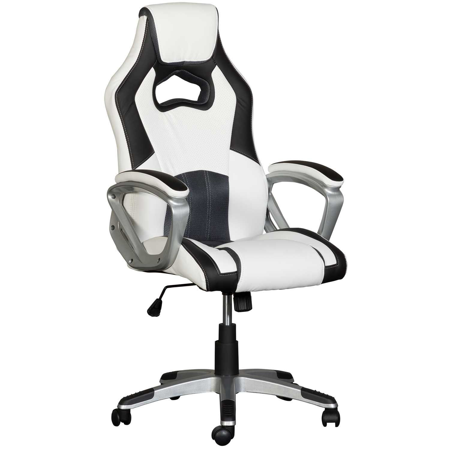 White And Black Office Chair Fy 3035 Cambridge Home Afw Com