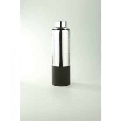 Picture of Silver Black Cylinder Vase