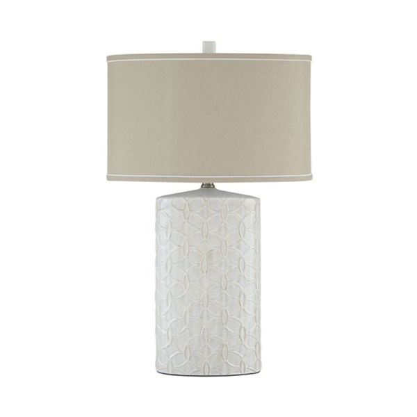 Picture of Shelvia White Ceramic Table Lamp