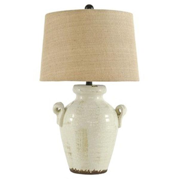Picture of Emelda Cream Crackle Table Lamp