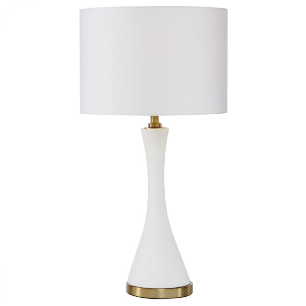 Picture of Cement White Table Lamp