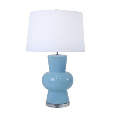 Picture of Light Blue Ceramic Gourd Table Lamp