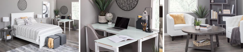 Create a functional sleeping & work space