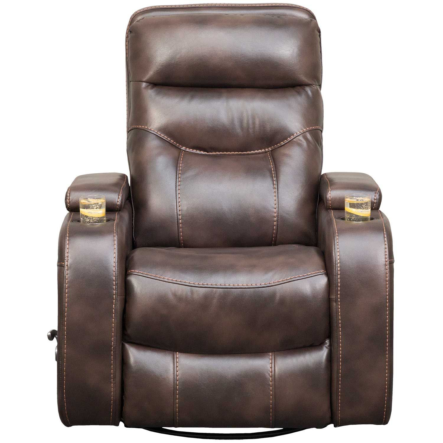 Picture of Dallas Brown Swivel Recliner