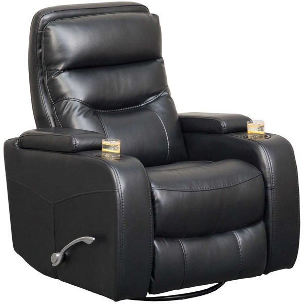 Picture of Dallas Charcoal Swivel Recliner