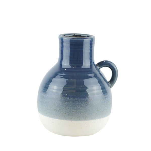 Picture of Navy Ceramic Handle Vase