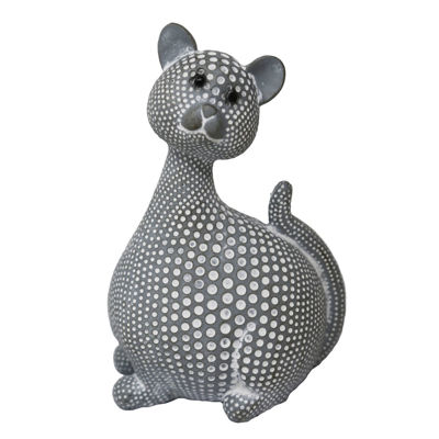 Picture of Gray Spotted Cat Sculpture