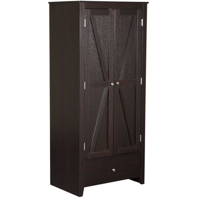 Picture of Two Door Red Cocoa Wardrobe
