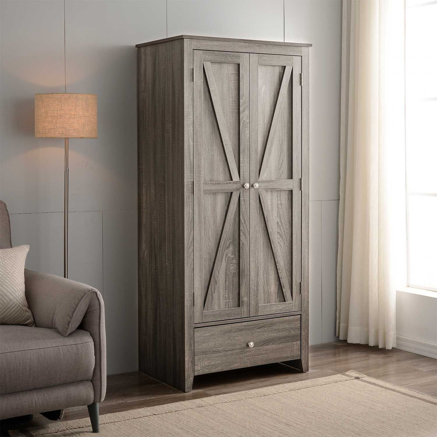 Picture of Two Door Dgrey Wardrobe