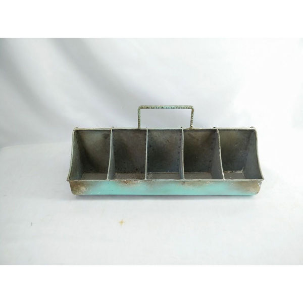 Picture of Blue Metal Slot Container