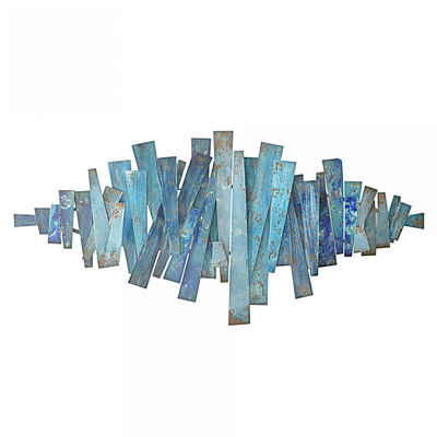 Picture of Blue Metal Wall Art