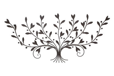 Picture of Leaf Metal Wall Decor-Rust