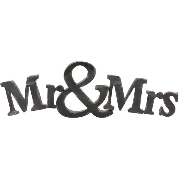 Picture of Mr & Mrs Metal Sign