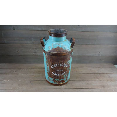 Picture of Blue Handled Milk Can