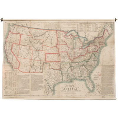 Picture of American Map Wall Decor