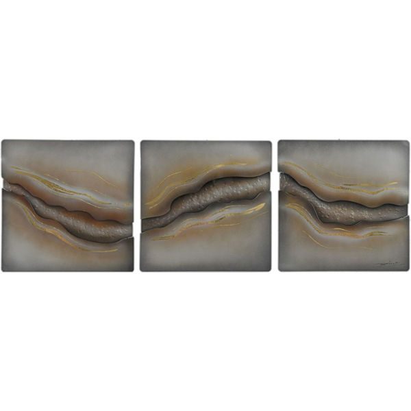 Picture of Set of 3 Metal Abstract Wall Decor