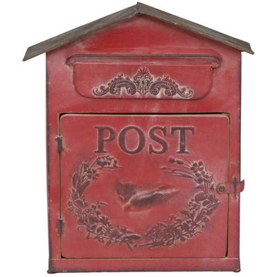Picture of Red Vintage Mailbox