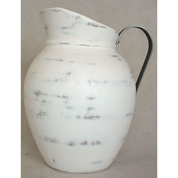 Picture of Rustic White Pitcher 12 In