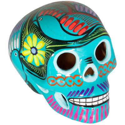 Picture of Aqua Multicolored Skull