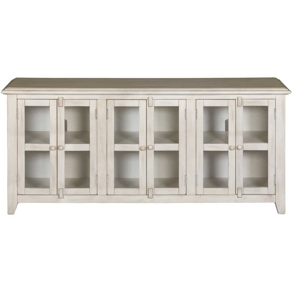 """Picture of Marble White 70"""" TV Stand"""